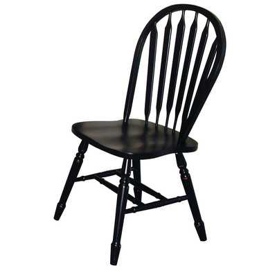 Sunset Selections Side Chair - Antique Black - Wayfair