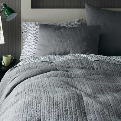 Organic Braided Matelasse Duvet Cover - King - West Elm