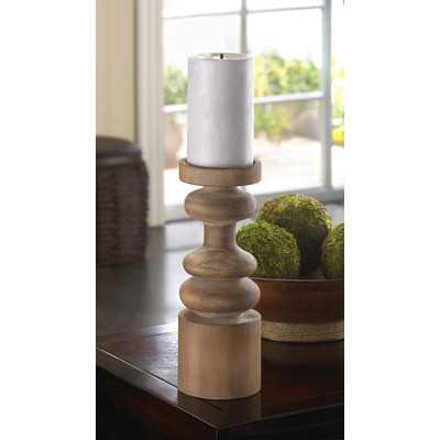 Craftsmen Wooden Candleholde - Wayfair
