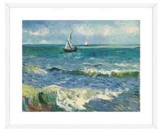 "Van Gogh, Les Saintes-Maries-de-la-Mer- 21.25"" x 25.75"" x .5""- Framed - One Kings Lane"