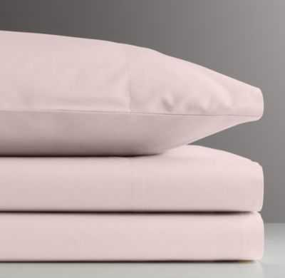Vintage-washed Percale Crib Fitted Sheet - RH Baby & Child
