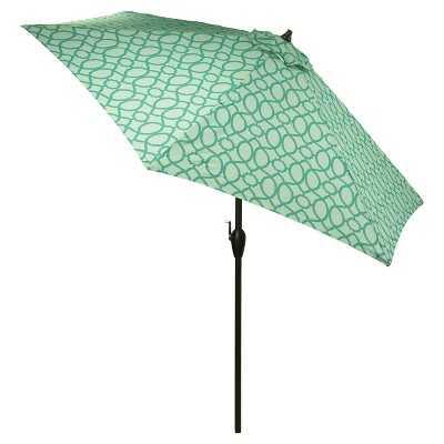 "9' Round Patio Umbrella Trellis Pattern - Thresholdâ""¢ - Target"
