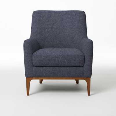 Sloan Upholstered Chair  - Pebble Weave, Aegean Blue - West Elm