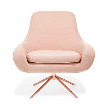 Softline apricot swivel curved chair - ABC Home and Carpet