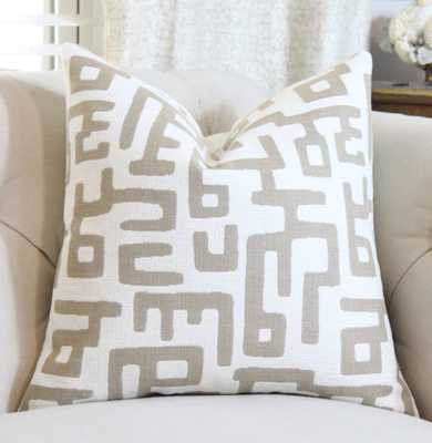 "Geometric Pillow Cover - Ivory - 18""x18"" - Insert sold separetely - Etsy"