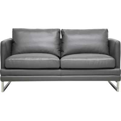 Baxton Studio Dakota Leather Loveseat by Wholesale Interiors - Wayfair