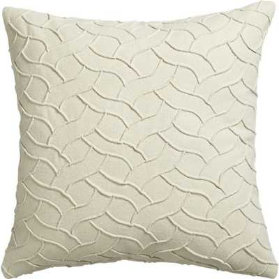"""Woolsey ivory 18"""" pillow with feather-down insert - CB2"""