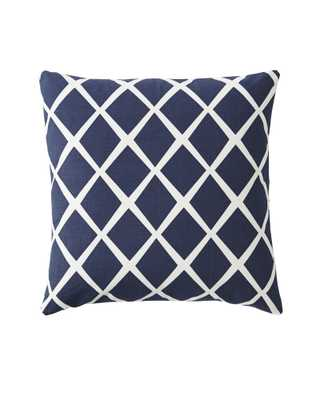 "Diamond Pillow Cover - Navy - 20"" square - Insert sold separately - Serena and Lily"
