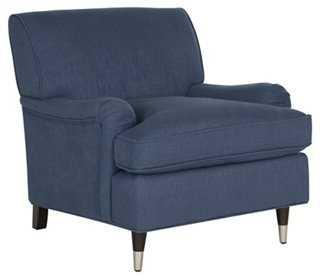 Kensie Club Chair, Navy - One Kings Lane
