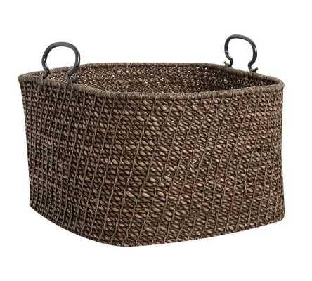 Dark Twist and knot Basket - Medium - Pottery Barn