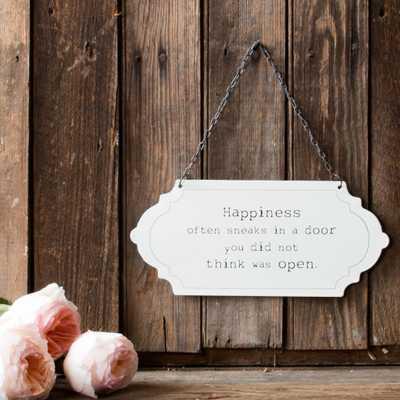 """HAPPINESS"" SIGN - shop.magnoliamarket.com"
