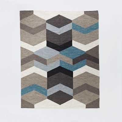 Mid-Century Geo Wool Kilim - 8'x10' - West Elm
