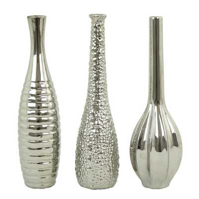 Tianna Table Vase - Silver - AllModern