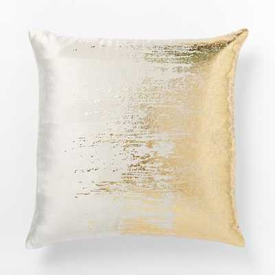 Faded Metallic Texture Pillow Cover - 18sq, gold, no insert - West Elm