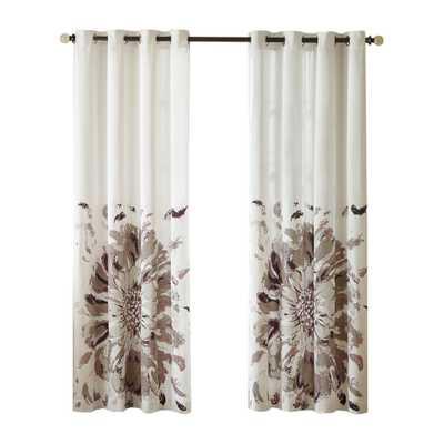 Hilda Curtain Single Panel - Purple - Wayfair
