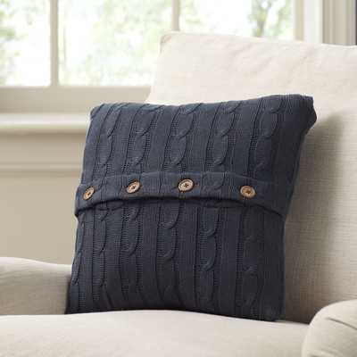 """Clara Cable-Knit Pillow Cover- 18"""" H x 18"""" W  -Insert not included - Wayfair"""