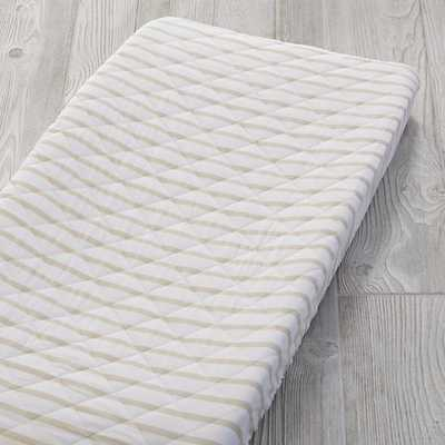Early Edition Changing Pad Cover (Khaki Stripe) - Land of Nod