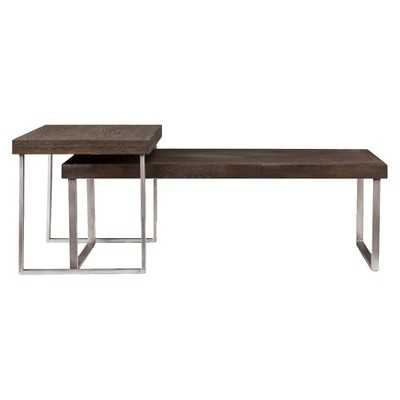 Southern Enterprises Mixed Material Nesting Coffee Table - Target