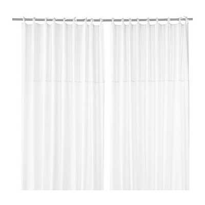 """PÃ""""RLBLAD Curtains, 1 pair, white - 98"""" x 57"""" - Ikea"""
