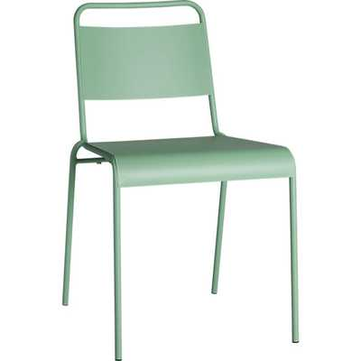 Lucinda mint stacking chair - CB2