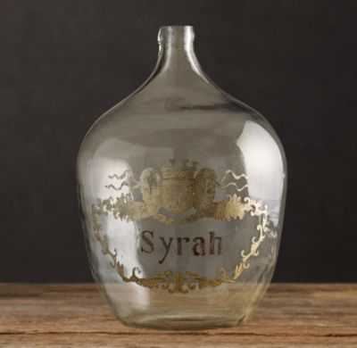 1920S HAND-BLOWN WINE BOTTLE, Syrah - RH