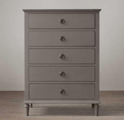 MAISON 5-DRAWER NARROW DRESSER - Antiqued Graphite - RH