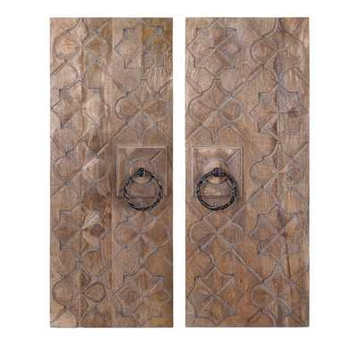 Alba Wood Carved Wall Décor Set - AllModern