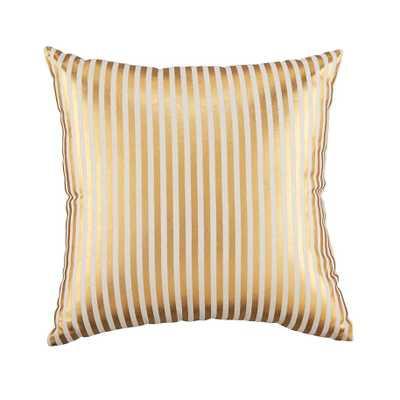 Pinstripe Pillow (Gold) - Land of Nod