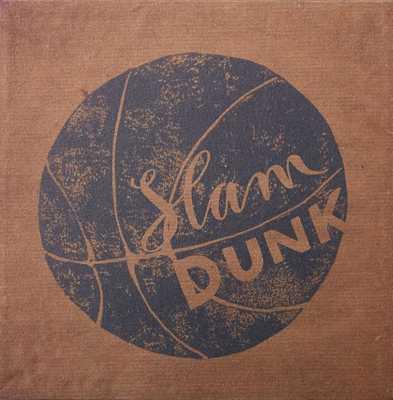 Vintage Sports Canvas - Basketball Slam Dunk - Pottery Barn Teen