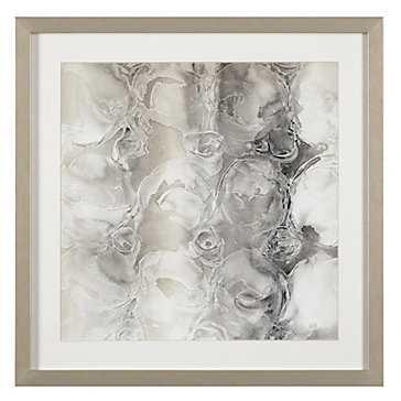 Grey Circles 2 - 23.5x23.5 - Framed - Z Gallerie
