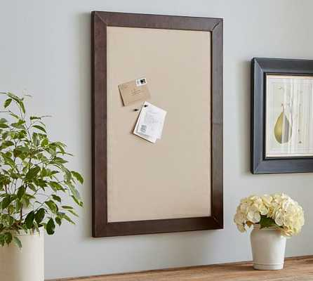 SADDLE LEATHER FRAMED PINBOARD - Pottery Barn