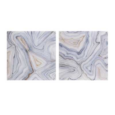 "Agate Abstract Painting Print Set - 24"" H x 24"" W - Unframed - AllModern"