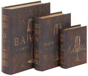 WINE LOVERS BOOK BOXES - SET OF 3 - Home Decorators