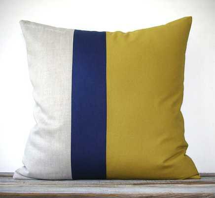 Color Block Pillow - Etsy