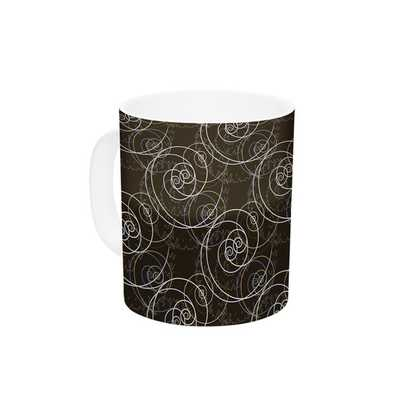 Nautical Breeze - Spiral Swirls by Mydeas 11 oz. Ceramic Coffee Mug - AllModern