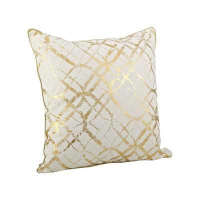 Lustrous Metallic Foil Print Cotton Throw Pillow - Wayfair