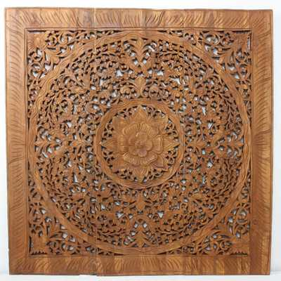 Lotus Square Panel in Recylced Teak Wall Décorby Strata Furniture - Wayfair