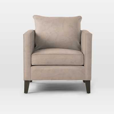 Dunham Down-Filled Armchair - Luster Velvet, Dusty Blush - West Elm