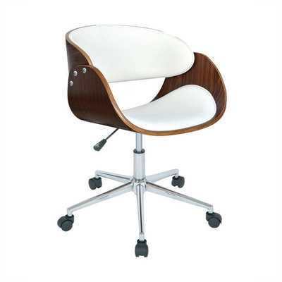 Monroe Adjustable Office Chair-White - Overstock
