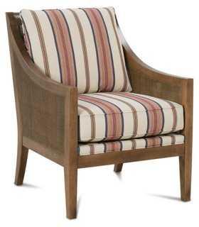 Nadja Chair, Red/Camel Stripe - One Kings Lane