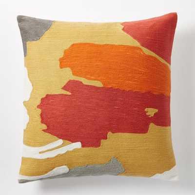 Modern Brushstroke Crewel Pillow Cover - West Elm