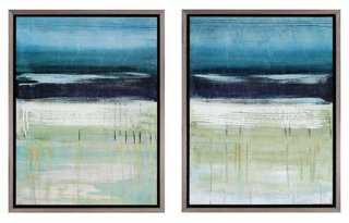 Sea and Sky Diptych framed - One Kings Lane