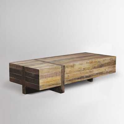 """Emmersonâ""""¢ Reclaimed Wood Block Coffee Table - West Elm"""