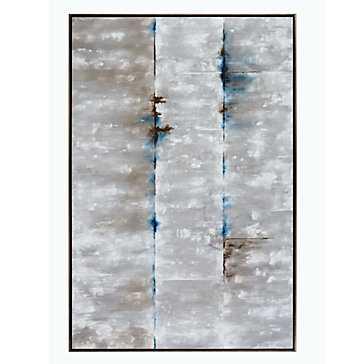 "Concrete Enclosure - 40""W x 57""H - Framed - Z Gallerie"