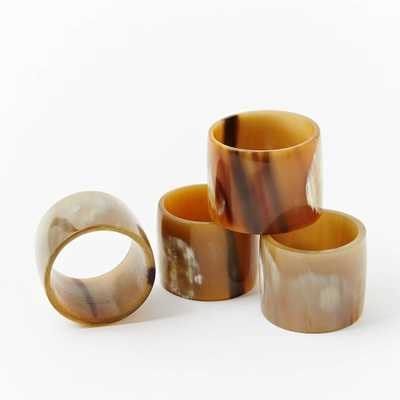 Horn Napkin Rings - Domino