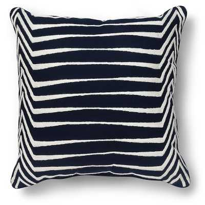 Graphic Embroidered Linework Pillow - insert included - Target