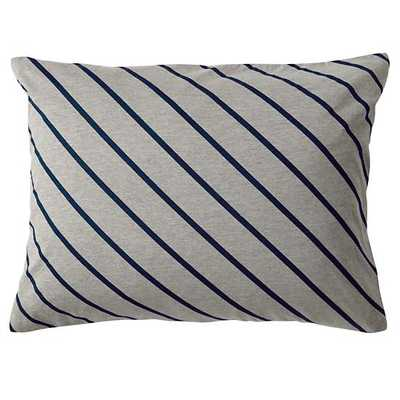 "Little Prints Sham (Blue Stripe)  -  26""Wx20""H-  Insert Sold Separately - Land of Nod"
