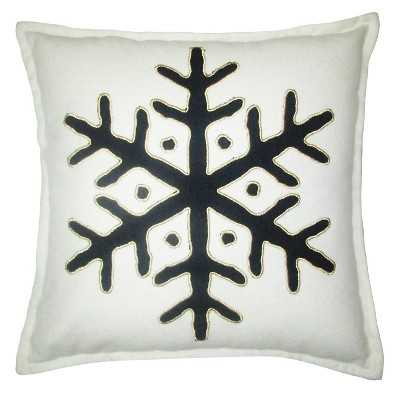 """Hand Woven Cotton Snowflake Pillow - 18""""X18"""" - Polyester fill - Target"""