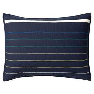 Laid Back Stripes Standard Sham - Insert sold separately - Pottery Barn Teen