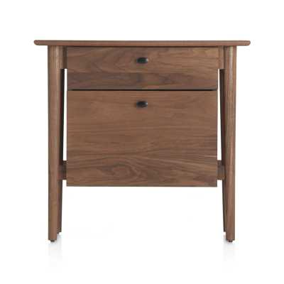 Kendall Walnut Filing Cabinet - Crate and Barrel